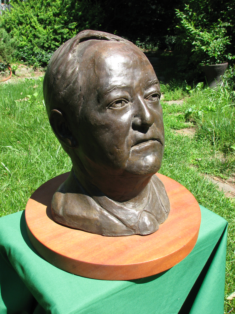 n-Hubert Humphrey bust outdoors